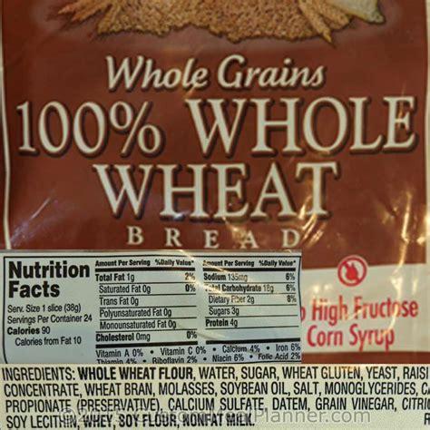 whole grain label 100 whole wheat bread nutrition label nutrition ftempo