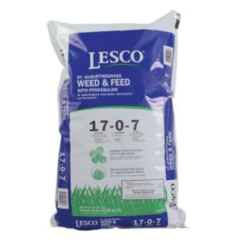 50 lb st augustine grass and feed with penoxsulam