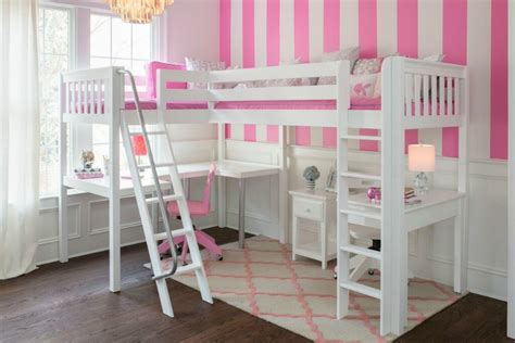 Shared Bedroom Ideas For Girls study environments for small spaces with kids loft bed
