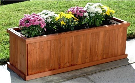 Indoor Planter Box by Blue Marble Designs Rectangle Rosewood Cedar Planter Box