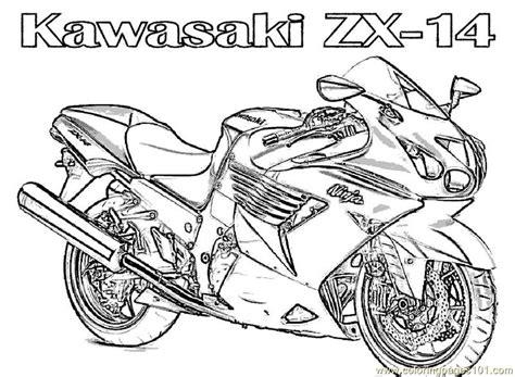 kawasaki ninja coloring page kawasaki ninja colouring pages
