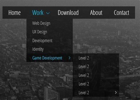 menu design using css3 multi level drop down menu with pure css3 minimal