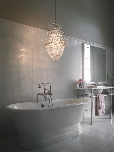 Bathrooms With Chandeliers Bathroom With Chandelier Myideasbedroom