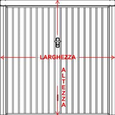 altezza box auto preventivo porta basculante standard per garage bologna