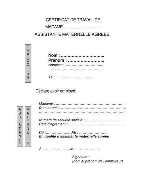 Modele Contrat Assistante Maternelle