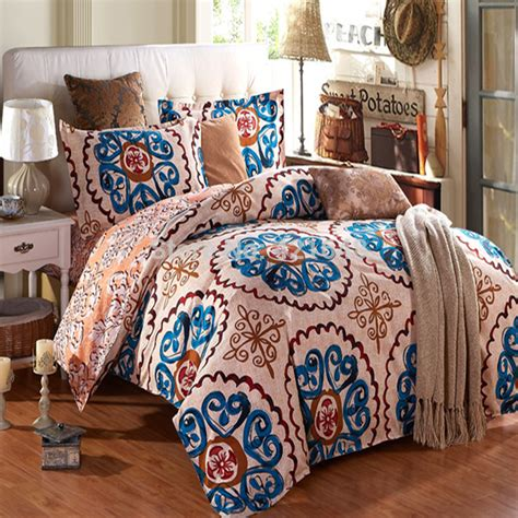 country bed comforter sets free shipping 100 sanding thickened flower floral bedding