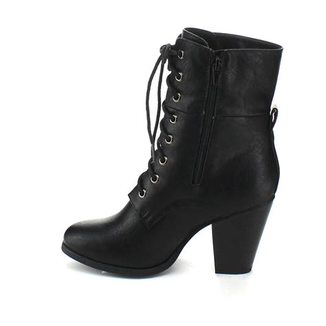black lace up boots with heel oasis fashion