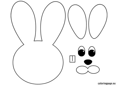 coloring crafts easter bunny paper craft easter crafts