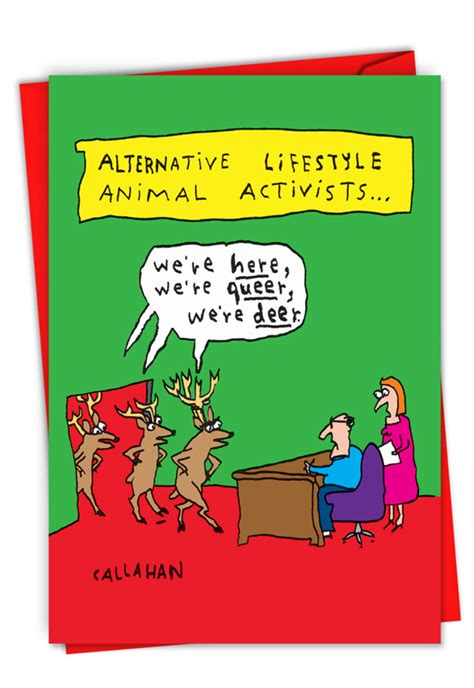 john callahans alternative activists humorous christmas card