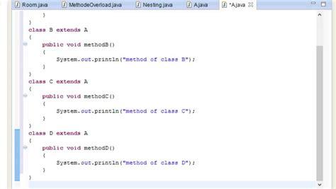 tutorial java inheritance java programming tutorial 29 hierarchical inheritance
