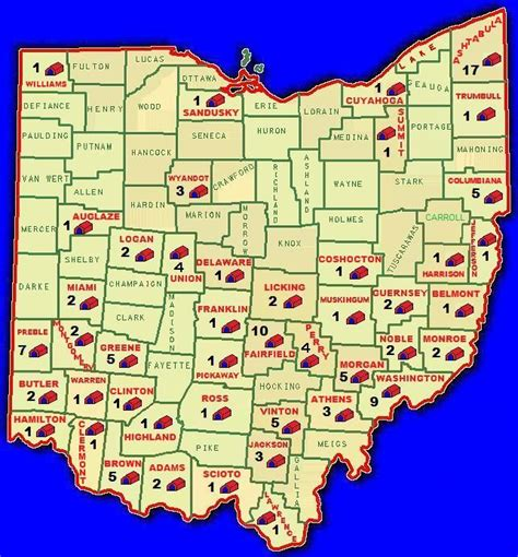 show me a map of ohio covered bridges in ohio map county covered bridge map
