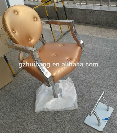 portable gold salon styling chair hb a155 view styling