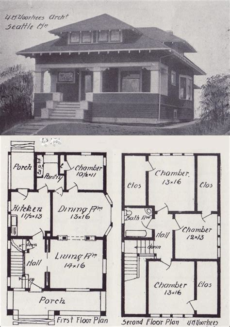 Vintage Cottage House Plans by Vintage Craftsman Bungalow House Plans Vintage Craftsman