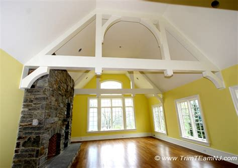 cathedral ceiling beams coffered ceilings and beams trim team nj woodwork