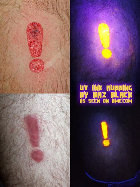 uv ink rubbing bme tattoo piercing and body