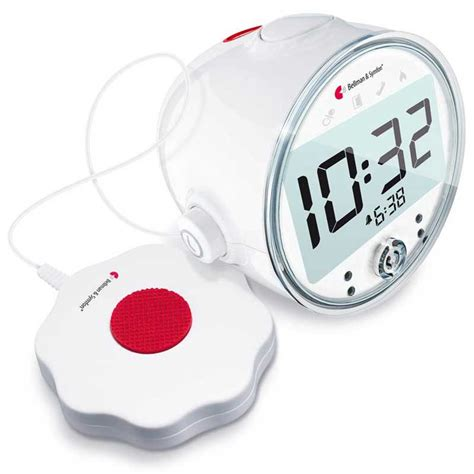 bellman and symfon vibrating alarm clocks be1380 with receiver bed shaker harris communications