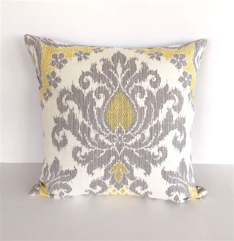 Grey Yellow Pillows by Yellow And Gray Accent Pillow Cover Yellow Throw Pillow