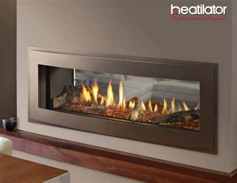 crave see through series gas fireplace contemporary