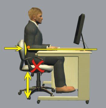 proper chair height for desk safe office practice