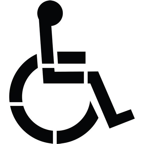 handicap template shop stencil ease 36 quot 1 part handicap parking stencil at