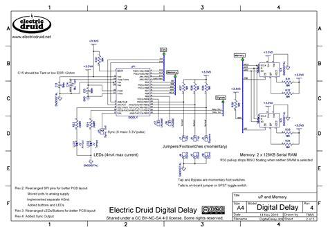 digital delay pedal schematic pt2399 schematic got to