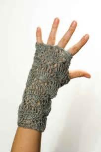 Crocheted mittens fingerless gloves sue s crochet and knitting