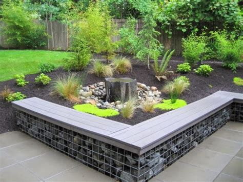 garden retaining wall bench 16 mind blowing gabion ideas that will give you unique