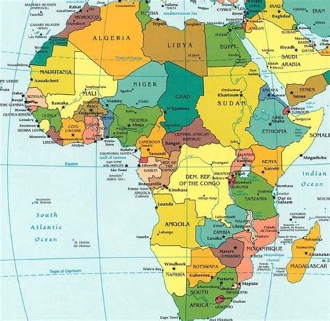 list of countries and capitals by continent list of countries and capitals maps of africa