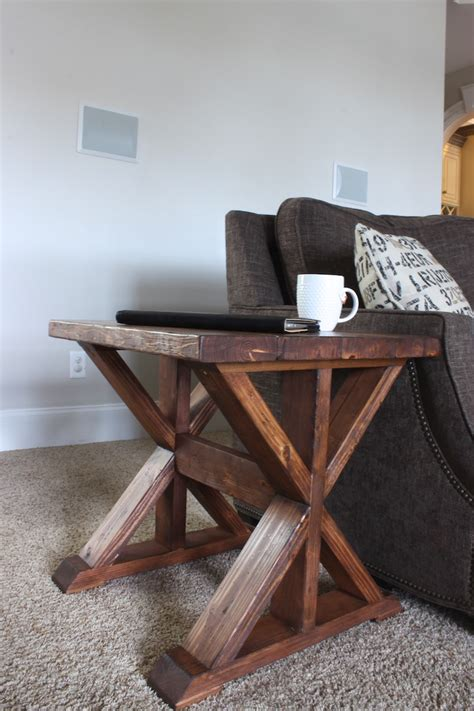 diy side table ana white 20 trestle side table featuring rogue