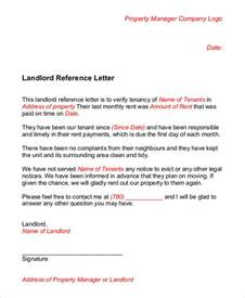 Reference Letter From Landlord To Landlord Landlord Reference Letter 5 Free Sle Exle