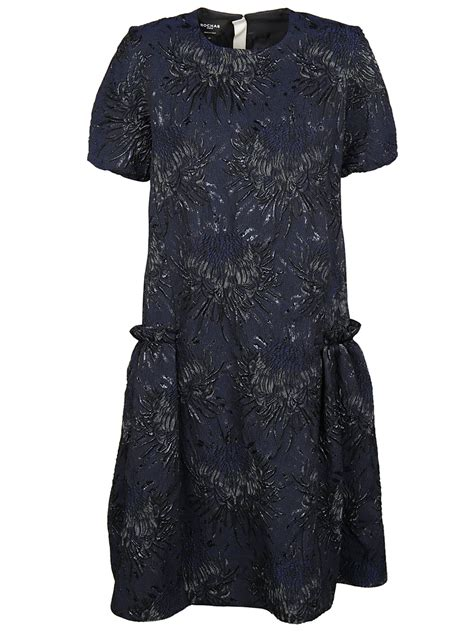 Rodnik Ludovico Jacquard Dress A Shirt Dress With A Difference by Rochas Rochas Floral Jacquard Shirt Dress Navy
