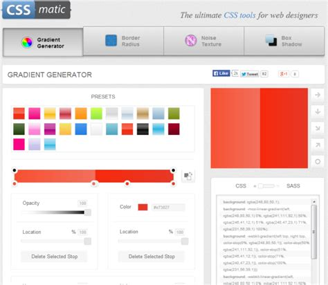 css colors tools 5 dashing online css3 generator tools web knowledge free