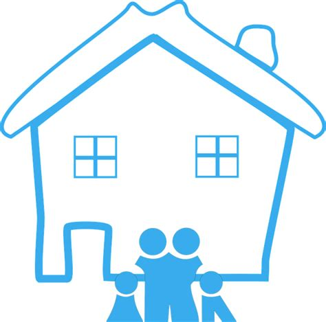 free vector graphic home family house design happy