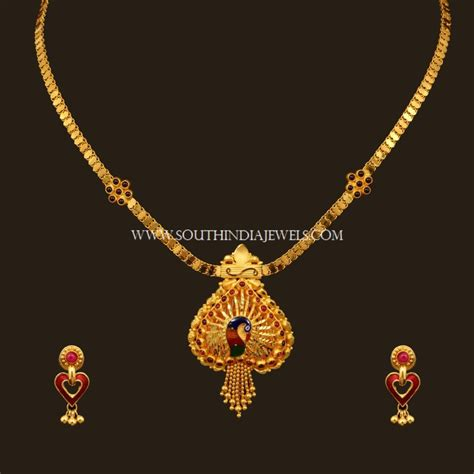 set designs with price gold necklace set designs with price south india