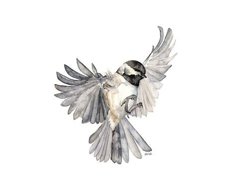 bird in flight painting print from original watercolor