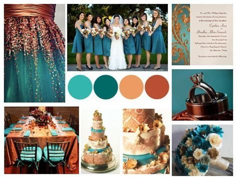 dark teal mixed metallics gold silver bronze wedding