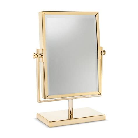 Three Sided Mirror Vanity by West Emory Two Sided Gold Vanity Mirror Target