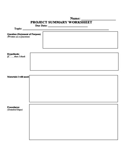 science project template search results for science fair project template