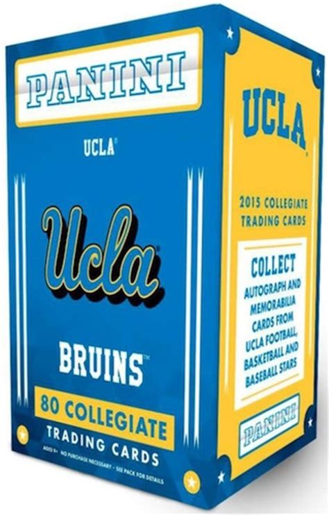 Ucla Gift Card - 2015 panini ucla bruins collegiate checklist set info boxes