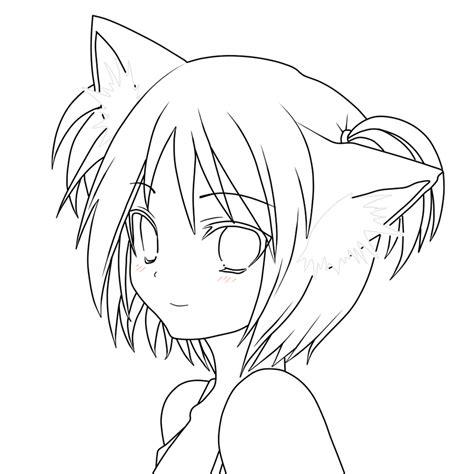 imagenes de nekos kawaii para dibujar dibujos lineart