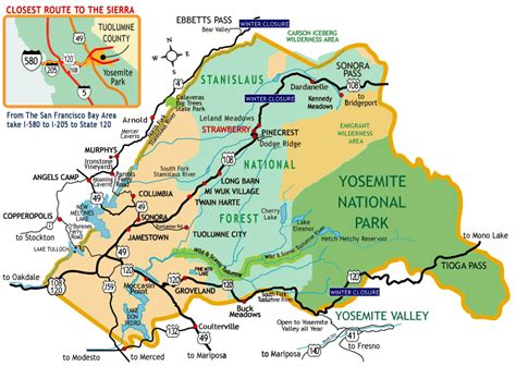 map of california national forests stanislaus national forest