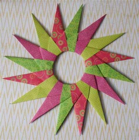 16 Pointed Origami - how to make a modular 16 point origami