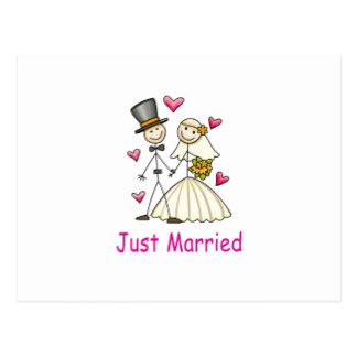just married card template stick figure and groom postcards stick figure