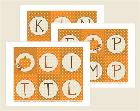 printable pumpkin banner little pumpkin banner printable autumn by designedbymaria