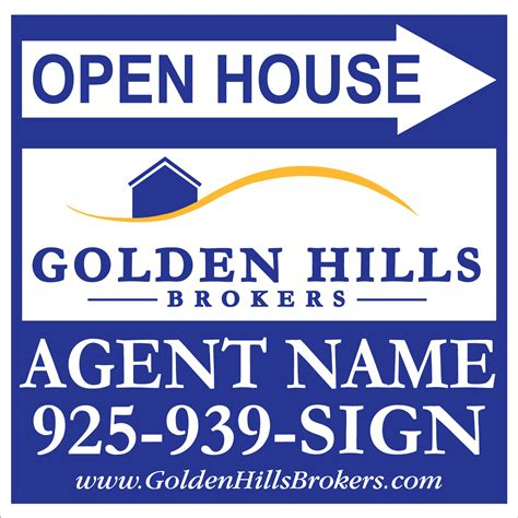 open house signs real estate golden hills brokers real estate real estate signs yard