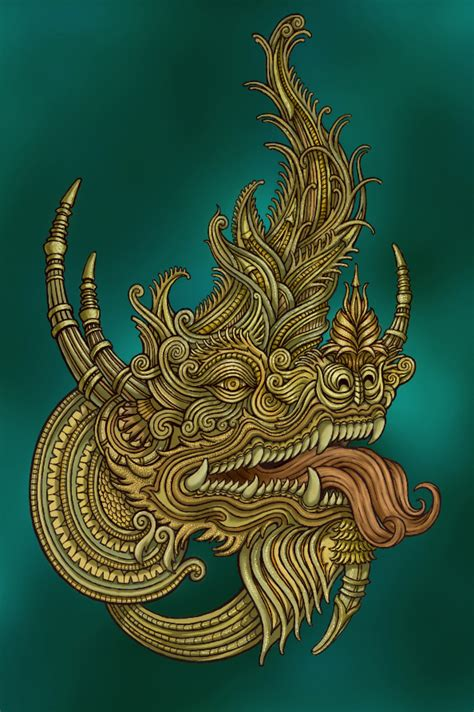 thai dragon tattoo designs thai on behance