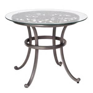 Glass Bistro Table New Orleans Bistro Table With Glass Top Woodard Furniture