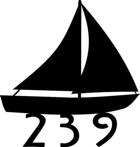 sailboat numbers sailboat lake house address sign house number 15 quot wide
