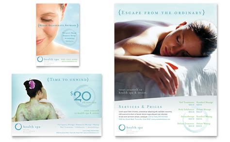 Day Spa Resort Flyer Ad Template Word Publisher Spa Flyer Templates Free
