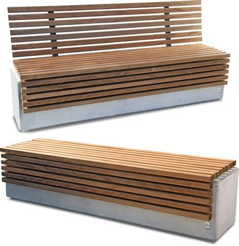 concrete and wood bench lithos wood wood and concrete bench home ideas